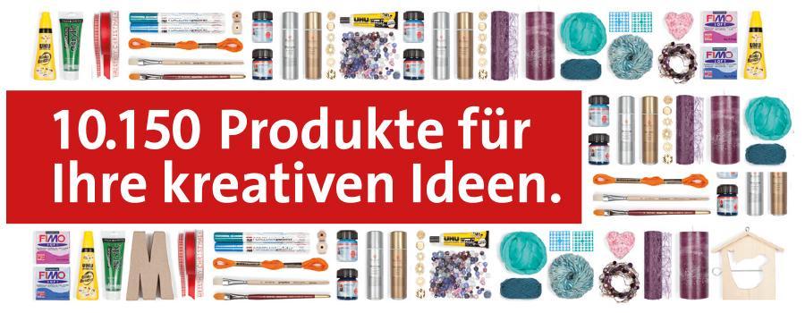 In unserem Sortiment finden Sie vielfältige Produkte  für ihr kreatives Hobby...